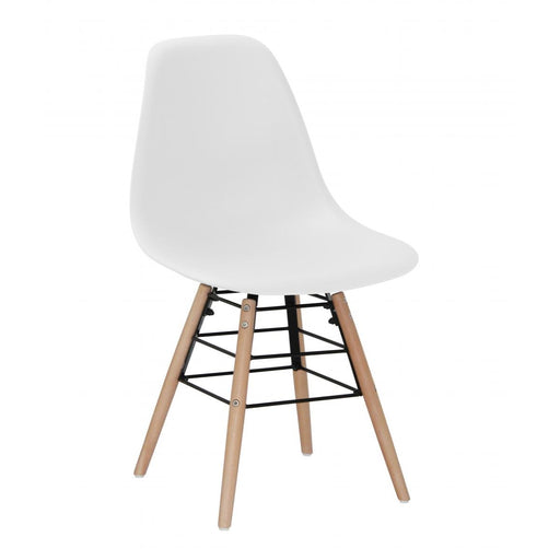 Milly Dining Chairs with Solid Beech Legs - White {Set Of 4}