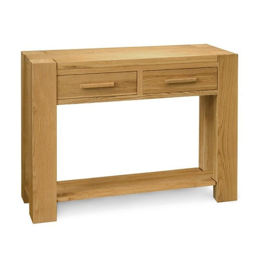 Trend Oak 2 Drawer Console Table - The Furniture Mega Store