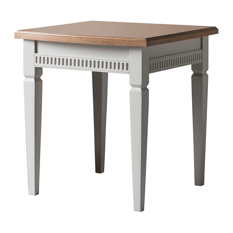 Bronte Taupe Side Table / Lamp Table - The Furniture Mega Store