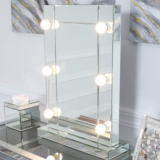 Classic Mirrored Broadway 6 Light Vanity Mirror - The Furniture Mega Store