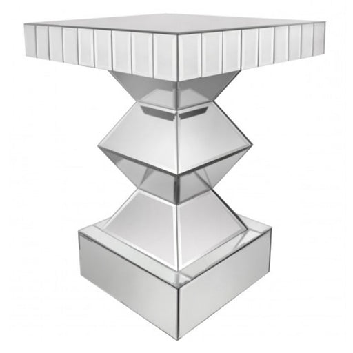 Classic Mirrored End Table