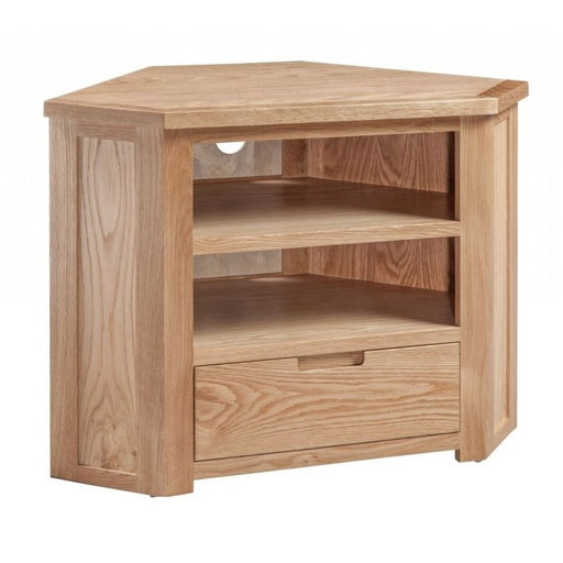 Romsey Solid Oak Corner TV Cabinet