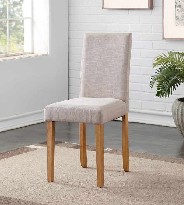 Hill Dining Chairs { Pair } Oyster / Light Oak