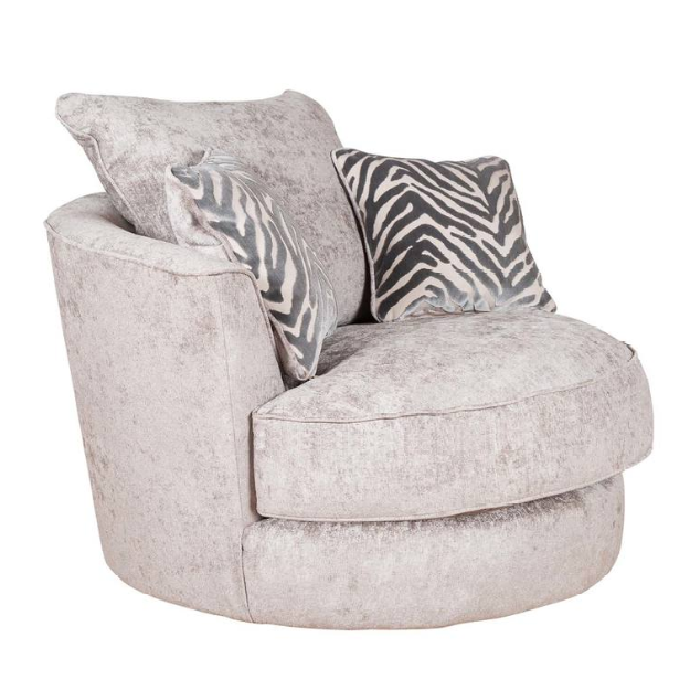 Flair Fabric Swivel Chair - The Furniture Mega Store