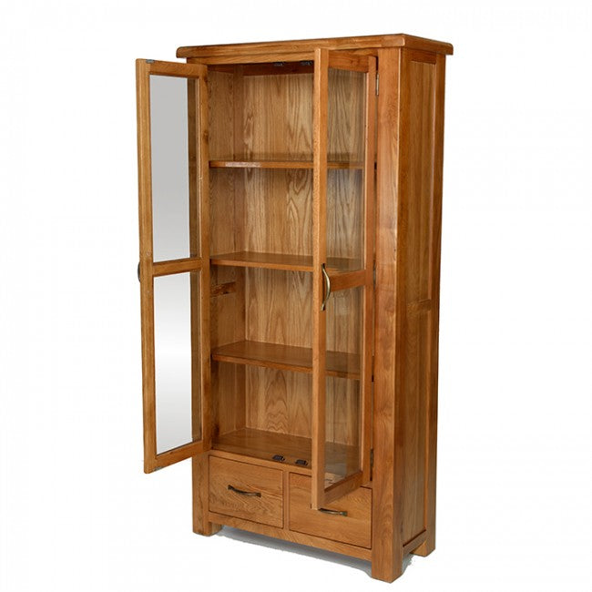 Earlswood Oak Glazed Display Cabinet