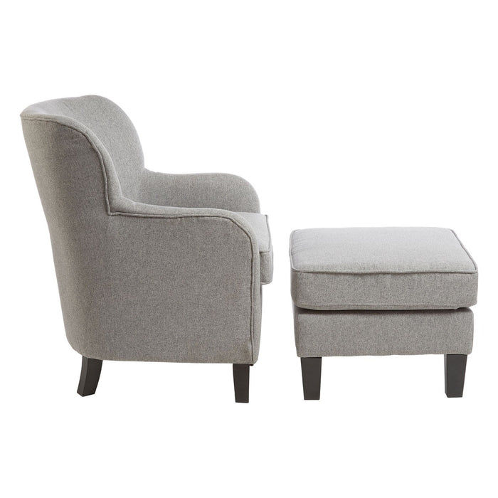 Grey Chair & Footstool