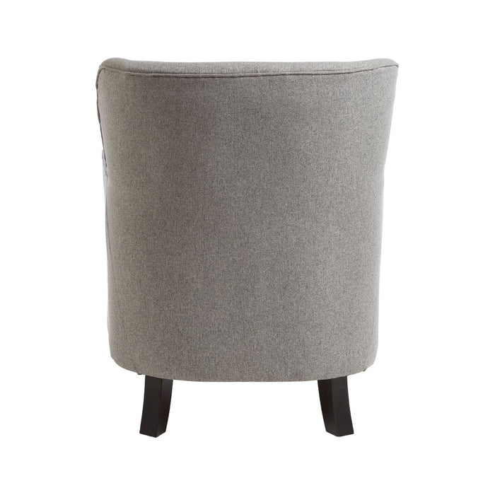 Grey Chair & Footstool - The Furniture Mega Store