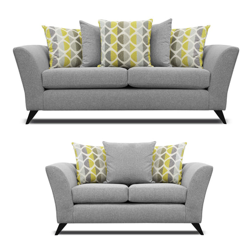 Hilton Fabric 3 Seater & 2 Seater Pillow Back Sofa Set