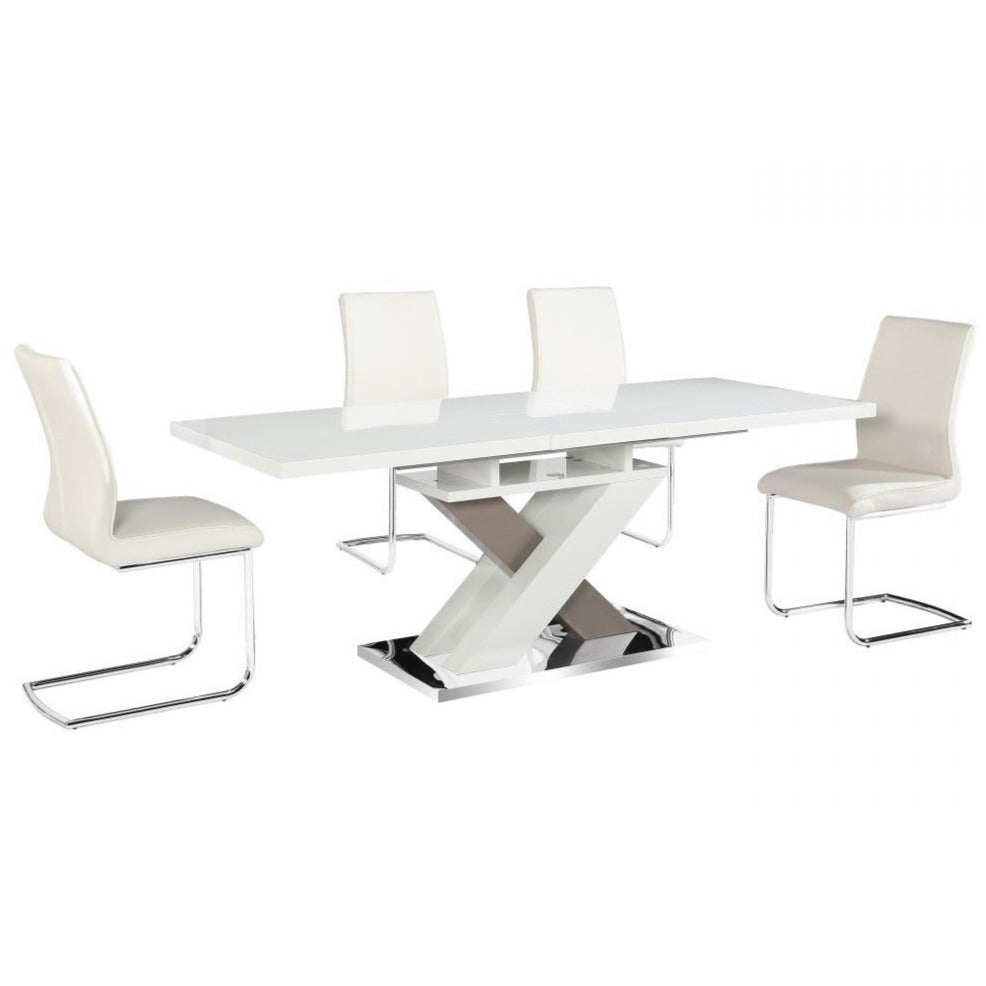 Nora Extending High Gloss Dining Set - Table & 6 Chairs