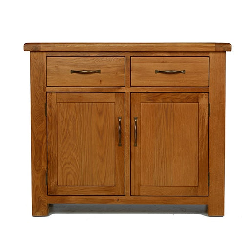 Earlswood Oak Small 2 Drawer Sideboard - The Furniture Mega Store