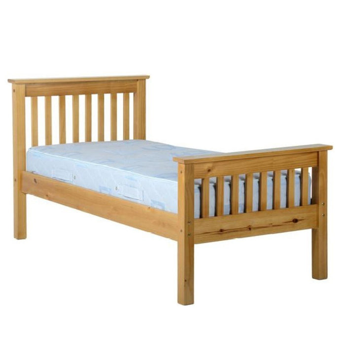 Miles 3' single Bed High Foot End - Antique Pine