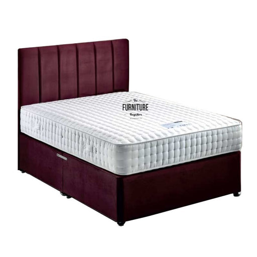 Langham 1000 Luxury Pocket Divan Bed Set - Base + Headboard + Mattress - Choice Of Colours & Sizes