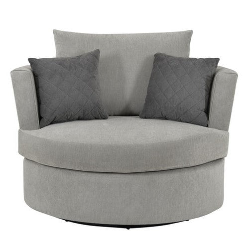 Lucy Fabric Swivel Chair - Choice Of Colours - The Furniture Mega Store