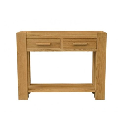 Trend Oak 2 Drawer Console Table