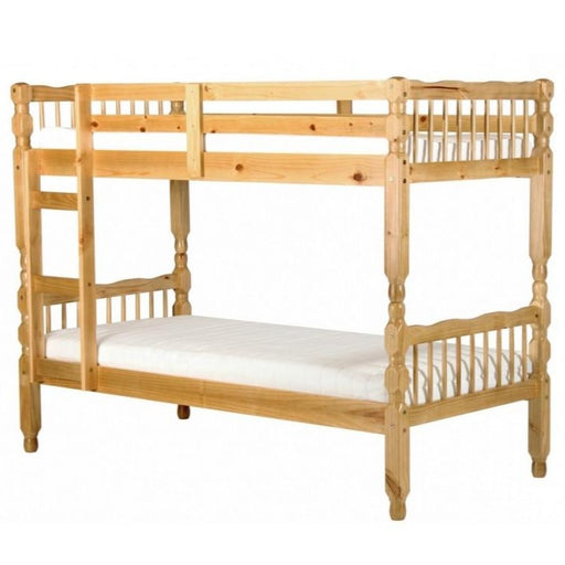 Milano Pine Bunk Bed Light Antique - The Furniture Mega Store