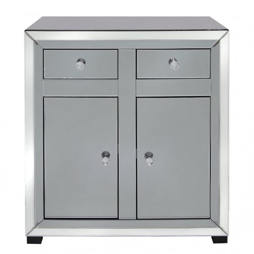 Smoked Mirrored Medium 2 Drawer 2 Door Sideboard