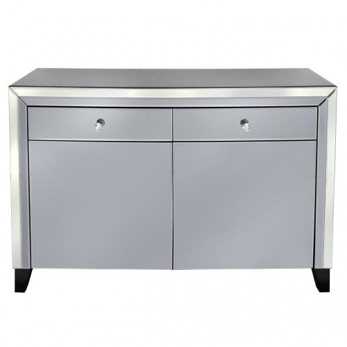 Smoked Mirrored Large 2 Door 2 Drawer Sideboard