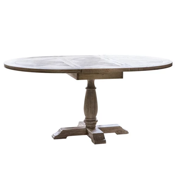 Mustique Round Extending Dining Table - 120cm To 165cm