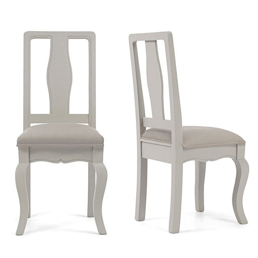 Sienna Grey Dining Chairs With Grey Padded Seat - Set Of 2