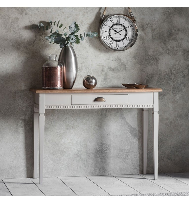 Bronte Taupe 1 Drawer Console Table - The Furniture Mega Store