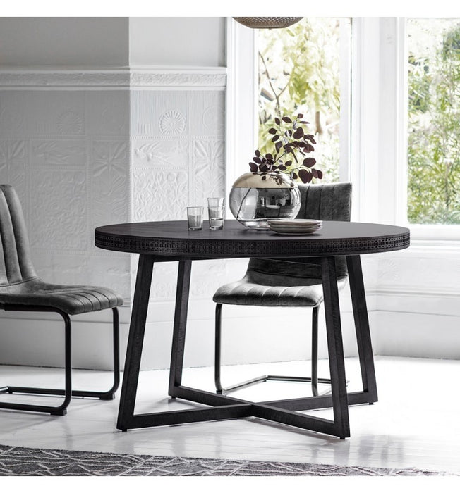Bohemian Boutique Round Dining Table - The Furniture Mega Store