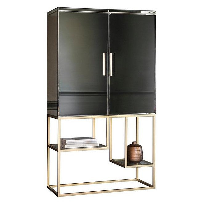 Pippard Cocktail Cabinet Champagne - The Furniture Mega Store
