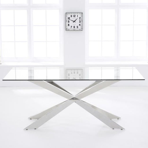 Zuri 160cm Glass Dining Table
