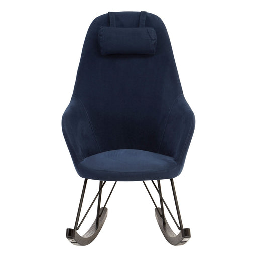 Rafferty Rocking Chair - Blue Fabric