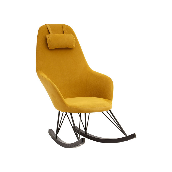 Rafferty Rocking Chair - Yellow Fabric