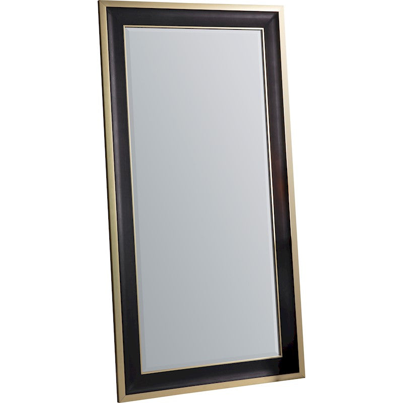 Black & Gold Leaner / Floor Mirror
