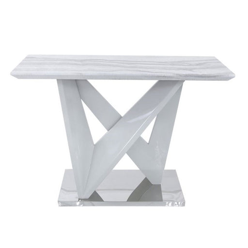 Esther Marble Effect Console Table - The Furniture Mega Store