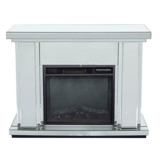 Classic Mirrored Fire Surround with Electric Fire Insert - The Furniture Mega Store