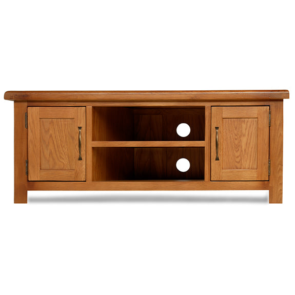 Earlswood Solid Oak Widescreen TV Cabinet - The Furniture Mega Store