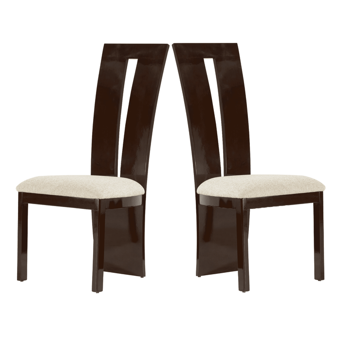 High Gloss Lance Dining Chairs {Set Of 2} Brown or Black
