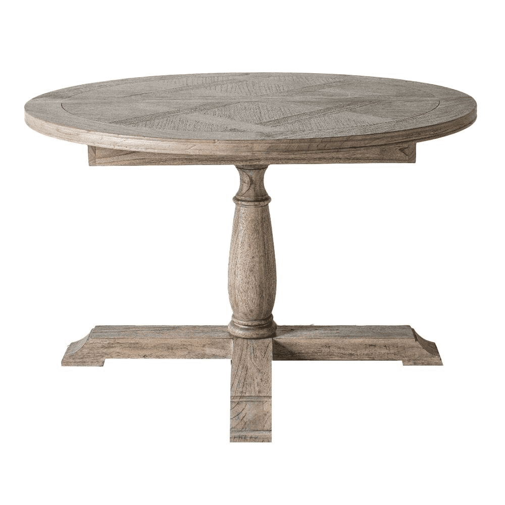 Mustique Round Extending Dining Table - 120cm - The Furniture Mega Store