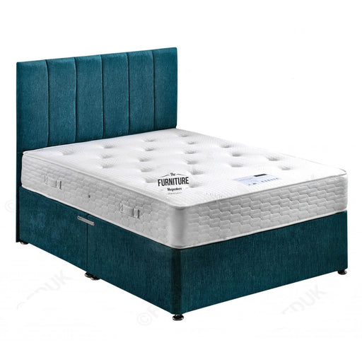 Regal Orthopedic Divan Small Double 4ft Bed Set - Base + Mattress + Headboard