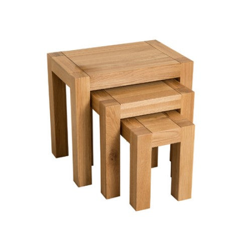 Trend Oak 3 Nest Tables