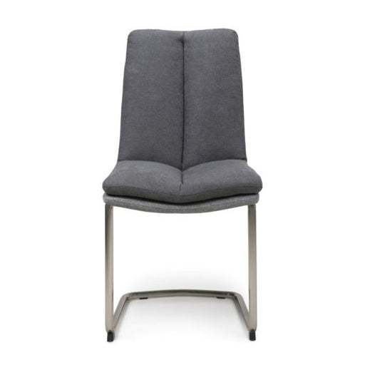 Triton Linen Dark Grey Dining Chairs {Set Of 2}