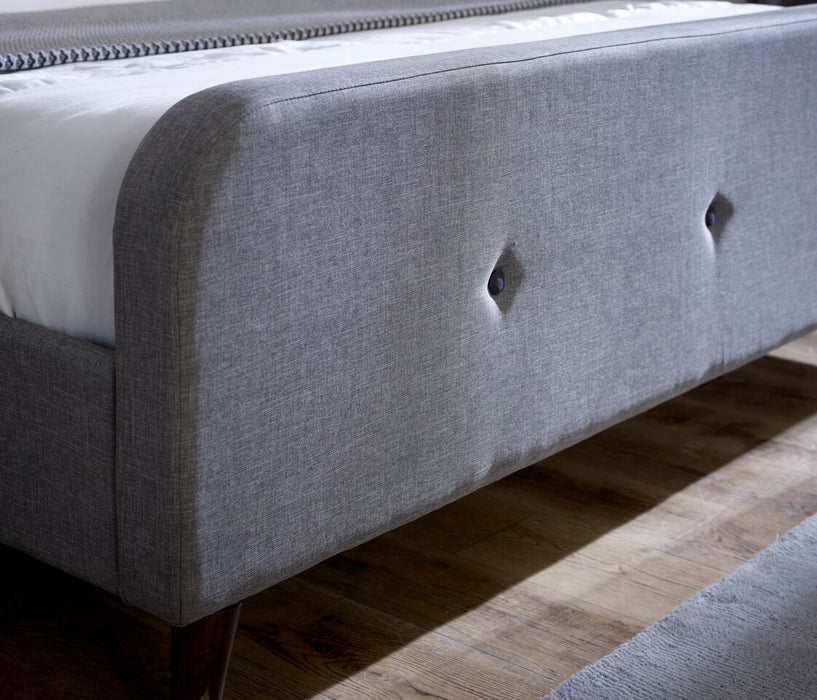 Tucana Bed Frame 4'6 Double - Ash Grey Fabric