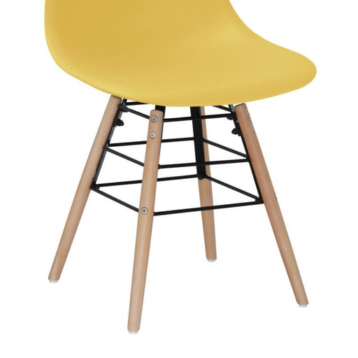 Milly Dining Chairs with Solid Beech Legs - Yellow {Set Of 4}