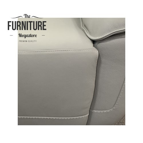 Grayson Leather Recliner Collection - Power or Manual Options - Choice Of Colours - The Furniture Mega Store