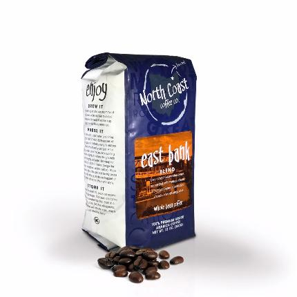 North Coast East Bank Blend, Whole Bean, 12oz - Caruso's Coffee, Inc.