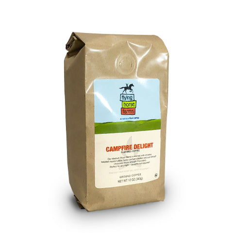 FLYING HORSE FARMS CAMPFIRE DELIGHT, GROUND, 12 OZ. - Caruso's Coffee, Inc.