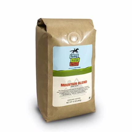 FLYING HORSE FARMS MOUNTAIN BLEND, GROUND, 12 OZ. - Caruso's Coffee, Inc.