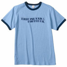 Erie Island Logo Ringer T-Shirt - Caruso's Coffee, Inc.