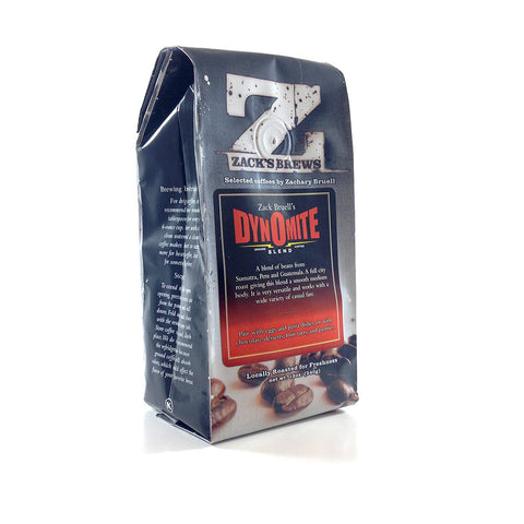 Zack's Brews Dynomite Blend, Ground - Caruso's Coffee, Inc.