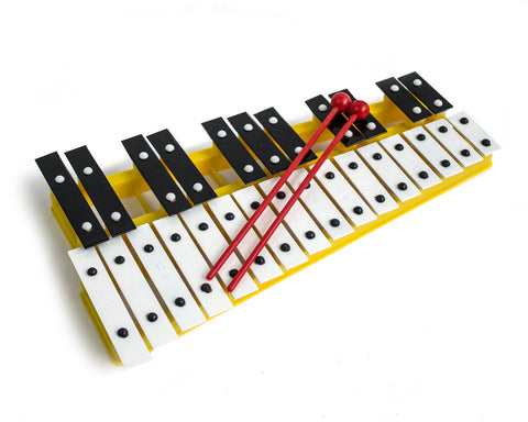 ProKussion Yellow 27 Key Chromatic Glockenspiel (Cover Optional)