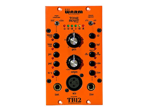 Warm Audio TB12-500 Tone Shaping Microphone Preamp Amplifier with Coupled Transformers - 1to1 Music