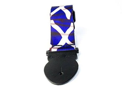 Adjustable Blue & White Saltire Scotland Flag electric or acoustic guitar strap - 1to1 Music
