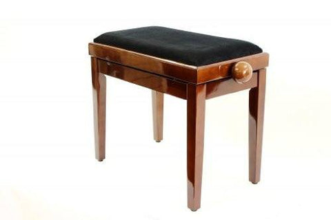 Legato Adjustable Wooden Piano Stool with Comfortable Padded Seat - Polished Walnut - 1to1 Music